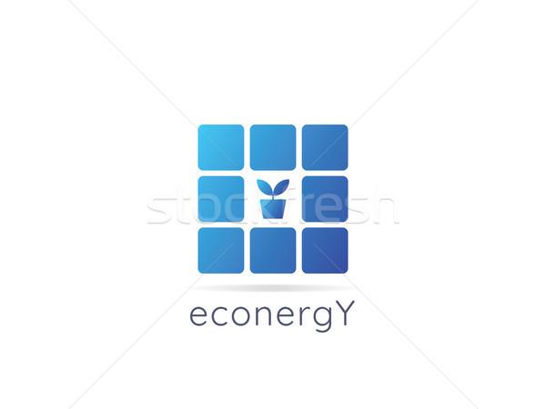 Enerji logo ikon sıfır atık Stok fotoğraf © taufik_al_amin