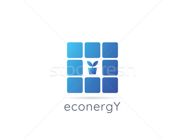 Energia logo icona pari a zero rifiuti Foto d'archivio © taufik_al_amin