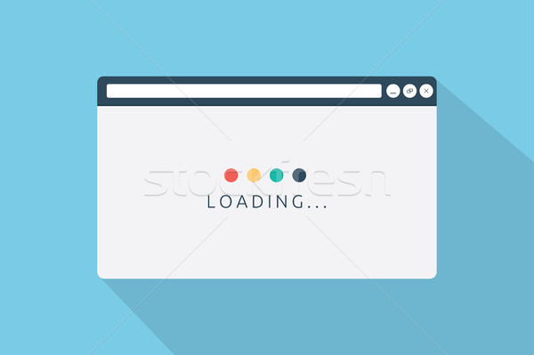 Loading page browser in flat style vector illustration Stock photo © taufik_al_amin