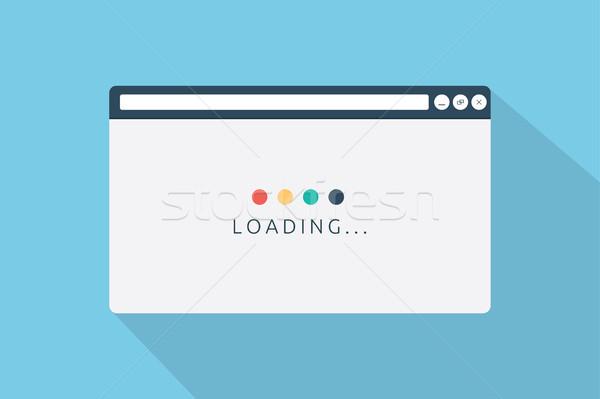 Página navegador estilo Internet diseno fondo Foto stock © taufik_al_amin