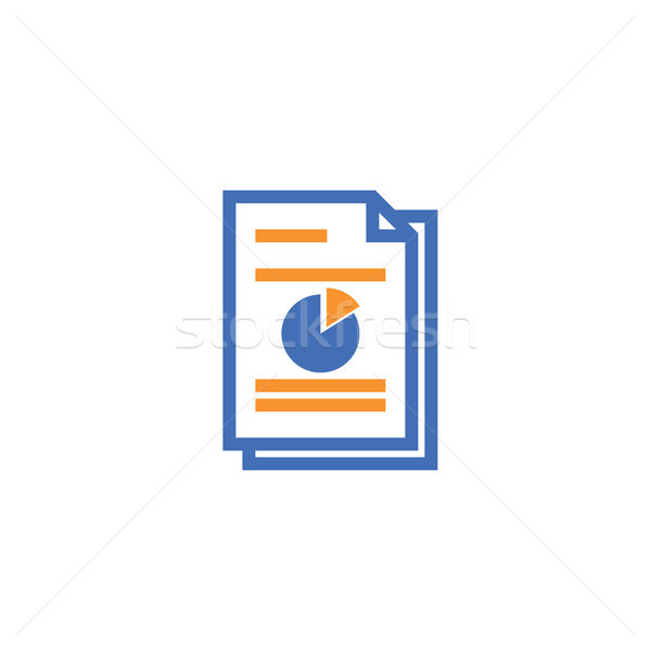 Dokumentu papieru ikona odizolowany Zdjęcia stock © taufik_al_amin