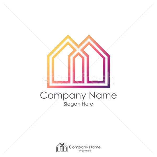 Imóveis design de logotipo letra m negócio escritório casa Foto stock © taufik_al_amin