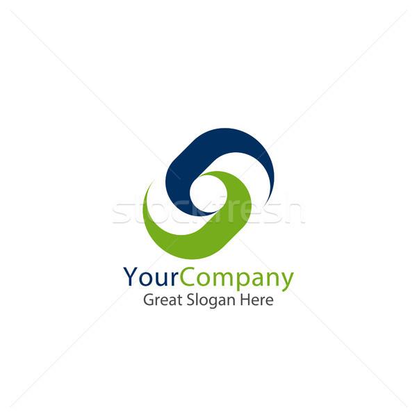 Iş kurumsal logo mektup kare daire Stok fotoğraf © taufik_al_amin