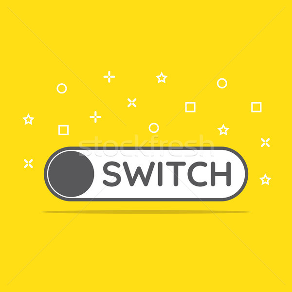 switch toggle icon in flat style vector illustration Stock photo © taufik_al_amin