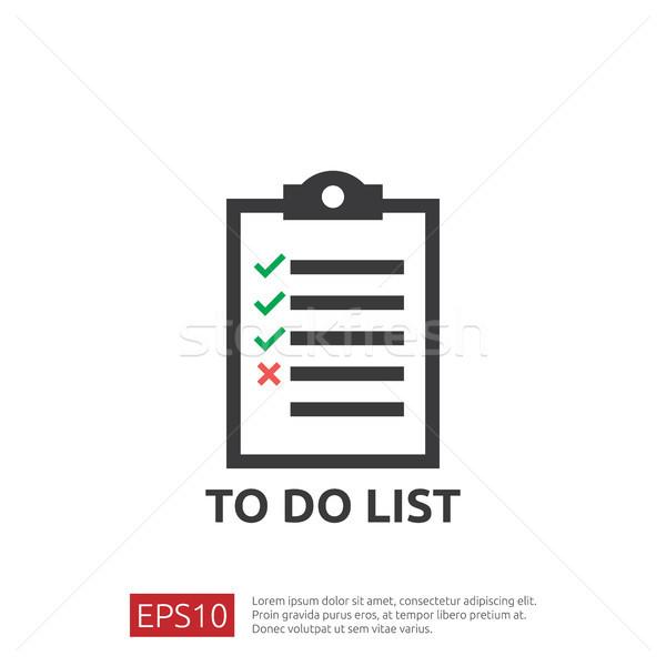 To do list planning icon stijl papier Stockfoto © taufik_al_amin