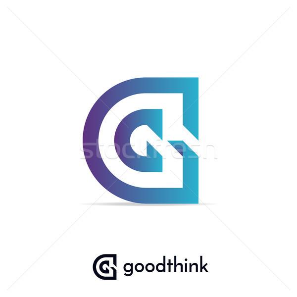 Logo design modello lettera futuro clean Foto d'archivio © taufik_al_amin