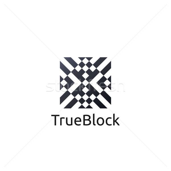 Tapijt vloer tegel muur logo icon Stockfoto © taufik_al_amin