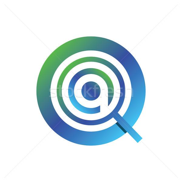 увеличительного логотип письме аннотация дизайна веб Сток-фото © taufik_al_amin