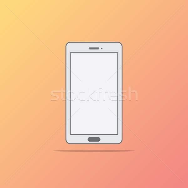 Stile icona telefono design tecnologia web Foto d'archivio © taufik_al_amin