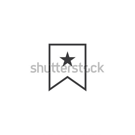 bookmark Icon. line style vector illustration Stock photo © taufik_al_amin