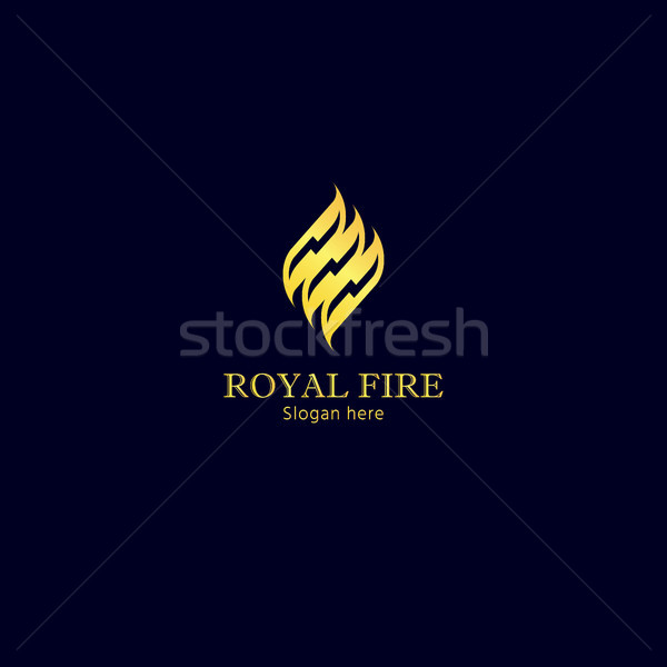 Fire Flame Logo. Golden energy color design concept vector illustration. Stock photo © taufik_al_amin