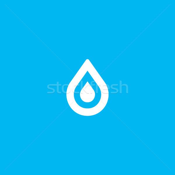 воды падение элемент логотип икона Сток-фото © taufik_al_amin