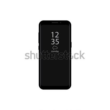 新しい バージョン スマートフォン 時間 表示 画面 ストックフォト © taufik_al_amin