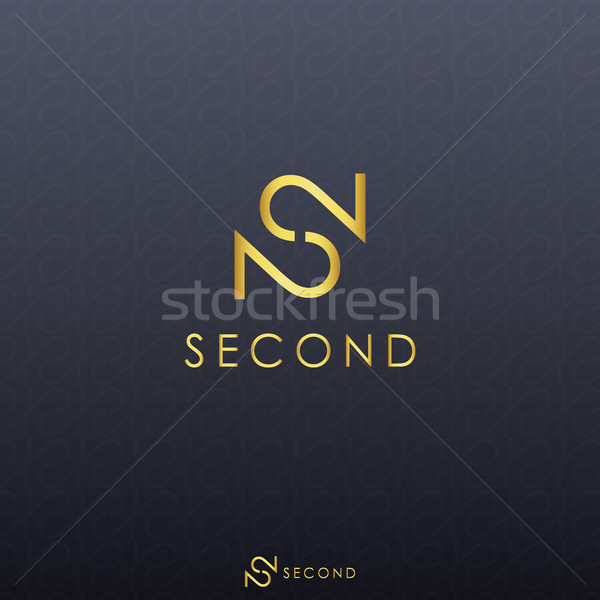 gold letter S and double number 2 logo concept with black backgr Stock photo © taufik_al_amin