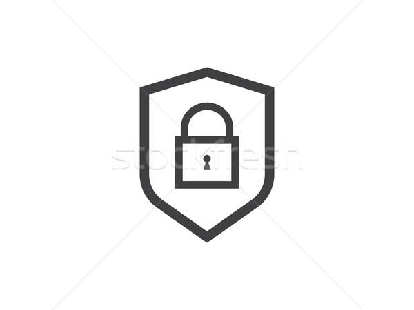 Kalkan hat ikon gizlilik Internet Stok fotoğraf © taufik_al_amin