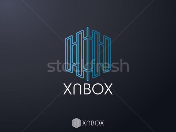 Soyut çokgen kurumsal iş logo ikon simge Stok fotoğraf © taufik_al_amin