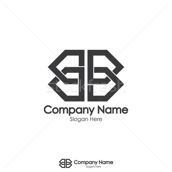 Podwoić list lustra projektowanie logo streszczenie domu Zdjęcia stock © taufik_al_amin
