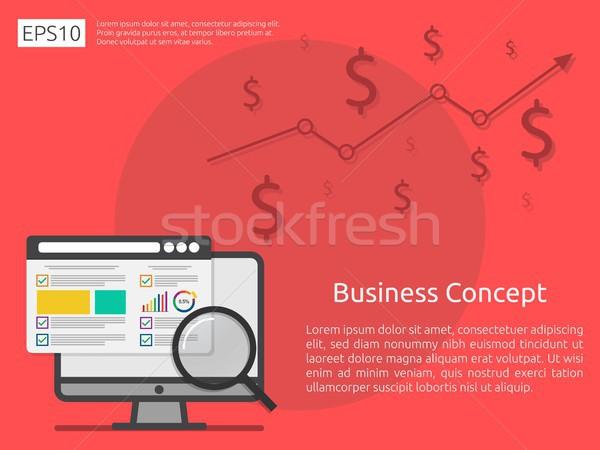 Stock photo: market business research strategy, data analysis development ban