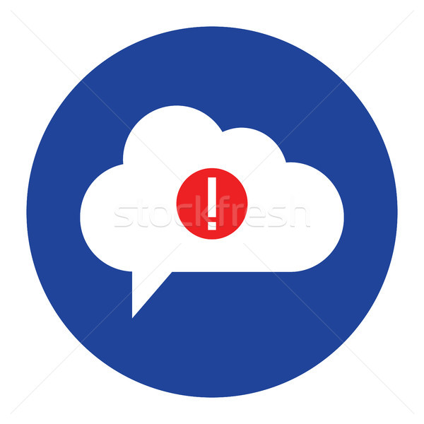 cloud warning Icon computing concept vector illustration Stock photo © taufik_al_amin