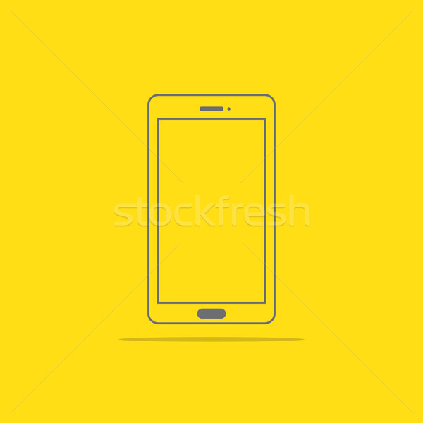 Stock photo: Flat style icon of phone vector illustration