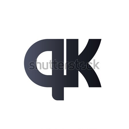 AK A K Black Initial Letter Logo design. bold monogram logo. Stock photo © taufik_al_amin