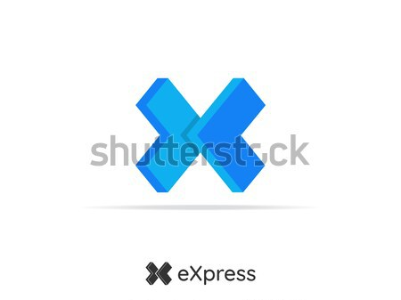 letter x logistic delivery courier service logo. money finance o Stock photo © taufik_al_amin