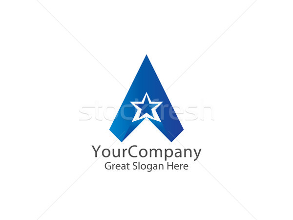 letter A logo. air arrow star creative apps design concept. Stock photo © taufik_al_amin