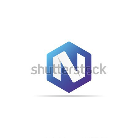 Logo ikon çokgen biçim dizayn Stok fotoğraf © taufik_al_amin