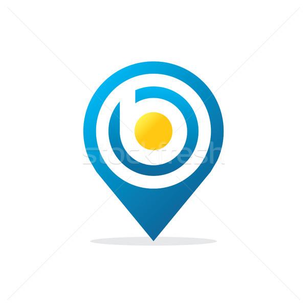 letter B Pin Logo icon vector illustration Stock photo © taufik_al_amin