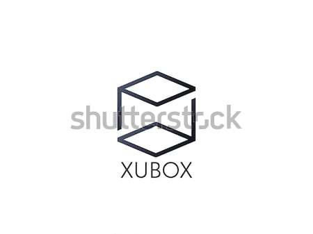 letter PD logo. abstract alphabet sign design. box cube icon tem Stock photo © taufik_al_amin