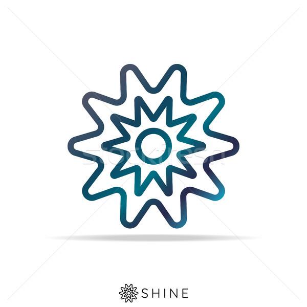 Absztrakt nap csillag logo ikon csillogás Stock fotó © taufik_al_amin