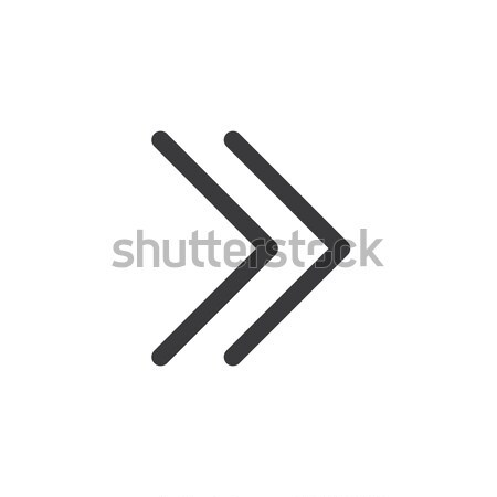Arrow Icon. isolated perfect pixel with flat style in white background for UI, app, web site, logo.  Stock photo © taufik_al_amin
