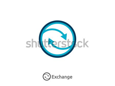 delivery logistic courier transport logo. exchange money finance Stock photo © taufik_al_amin