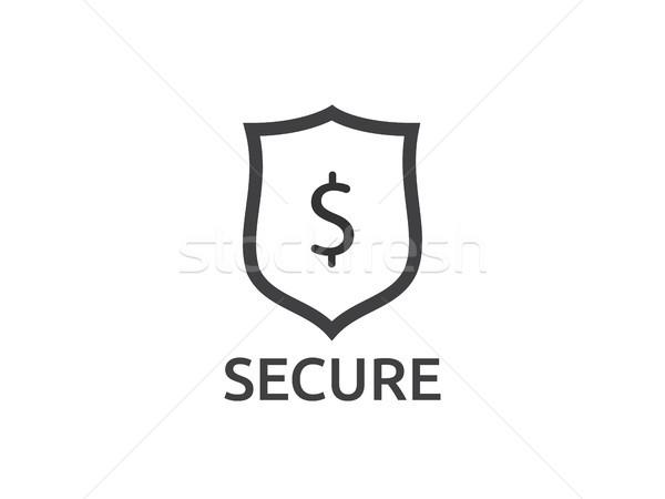 Dollar shield icon. money Security protection symbol Concept vec Stock photo © taufik_al_amin