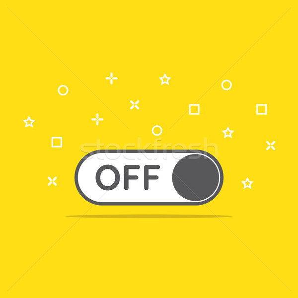 switch off toggle icon in flat style vector illustration Stock photo © taufik_al_amin
