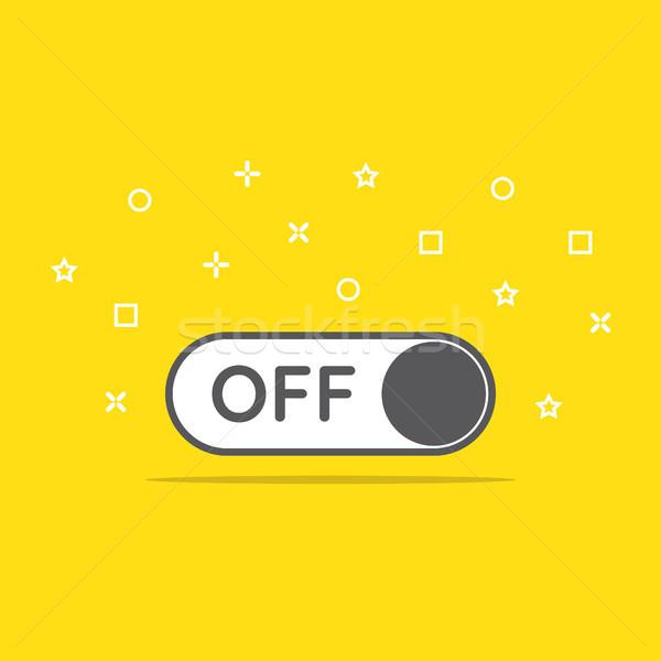 Switch icona stile internet web Foto d'archivio © taufik_al_amin