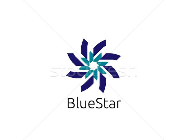 Abstract cerchio star logo modello moderno Foto d'archivio © taufik_al_amin