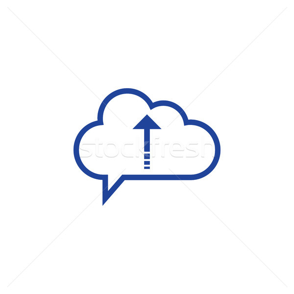 Nuvem ícone computing computador projeto Foto stock © taufik_al_amin