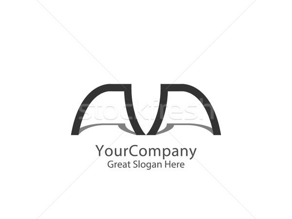 Absztrakt m betű logo vállalati cég tiszta Stock fotó © taufik_al_amin