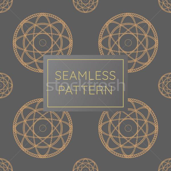Lusso cerchio corda pattern Foto d'archivio © taufik_al_amin