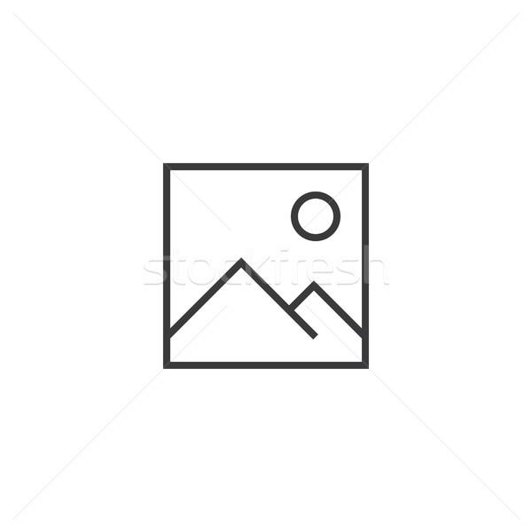 image Icon. line style vector illustration Stock photo © taufik_al_amin