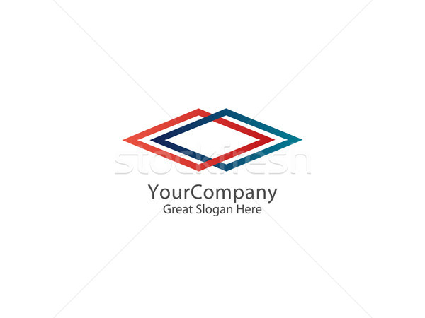 抽象的な 無限 広場 ロゴ ビジネス デザイン ストックフォト © taufik_al_amin