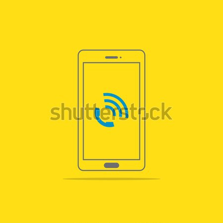 Phone call icon button on smartphone screen vector illustration Stock photo © taufik_al_amin
