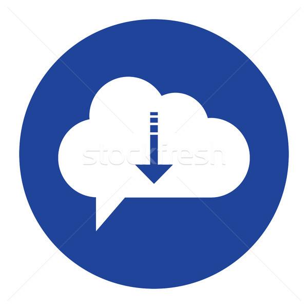 Bulut simgesi indir bilgisayar Internet dizayn Stok fotoğraf © taufik_al_amin
