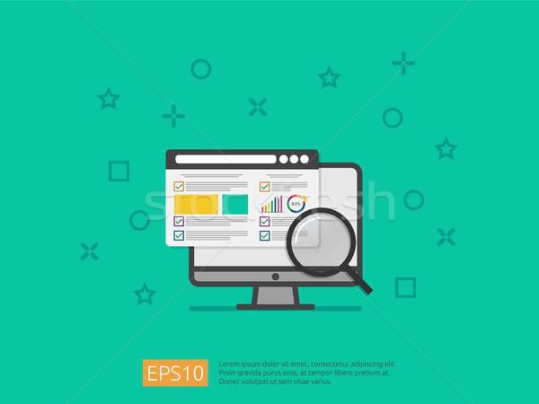 market business research strategy, data analysis development ban Stock photo © taufik_al_amin