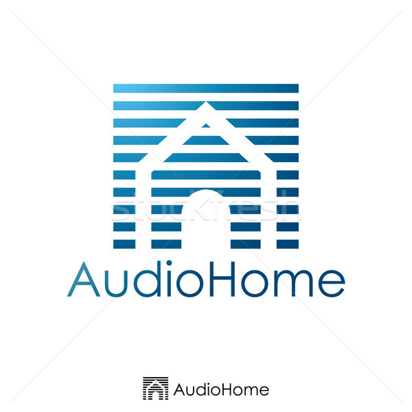 initial letter A and house logo concept. Logo template. vector i Stock photo © taufik_al_amin