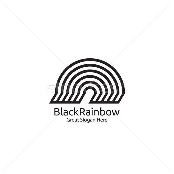 rainbow logo icon symbol. abstract dome vector illustration Stock photo © taufik_al_amin