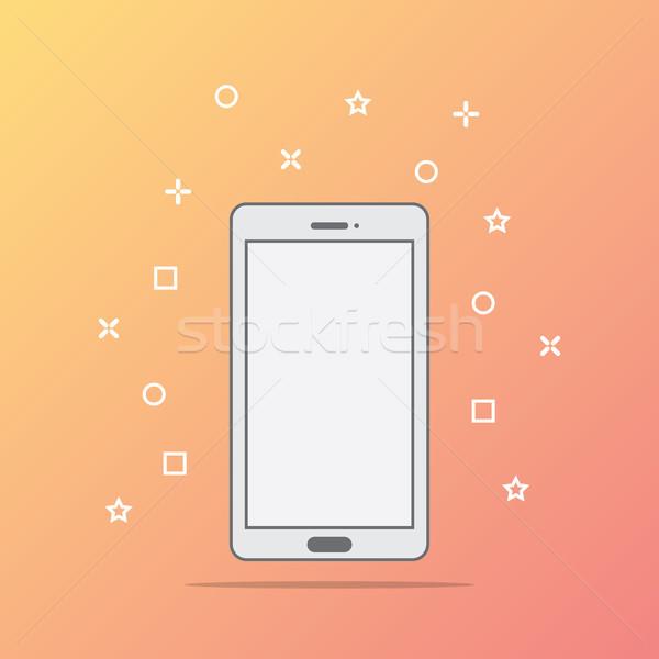 Stile icona telefono abstract design tecnologia Foto d'archivio © taufik_al_amin