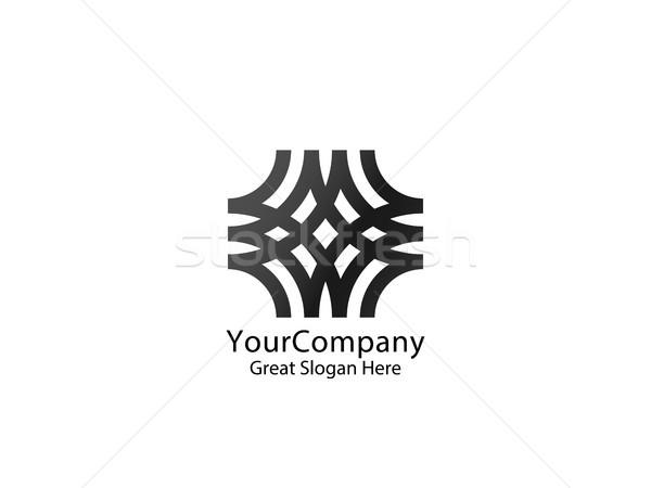 Absztrakt vonal logo ikon sablon üzlet Stock fotó © taufik_al_amin