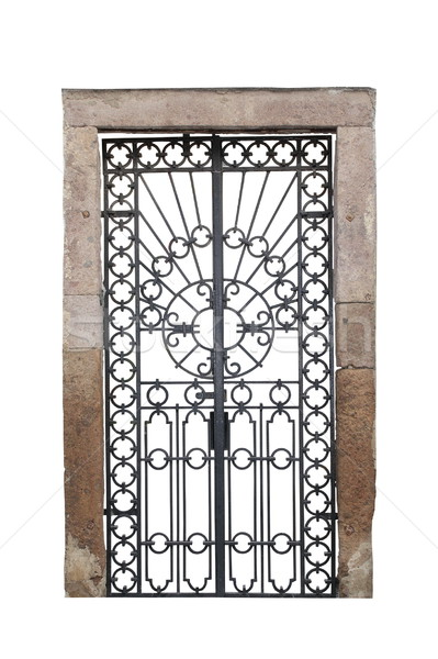 isolated old castle gate Stock photo © taviphoto